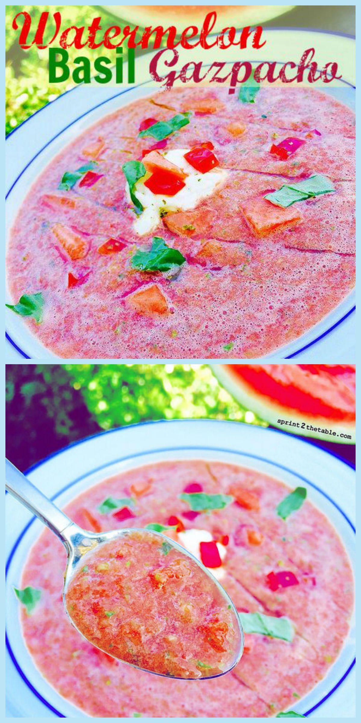 Watermelon Basil Gazpacho recipe