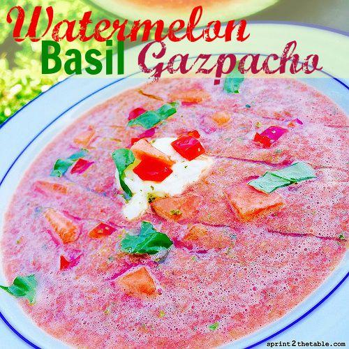 Watermelon Basil Gazpacho