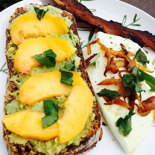 Avocado-Peach Toast