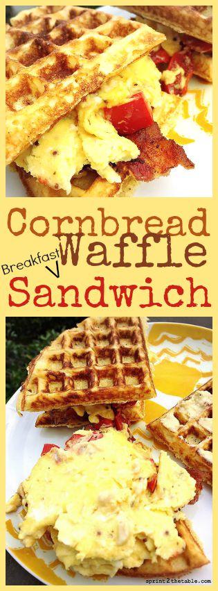 Cornbread Waffle Breakfast Sandwich