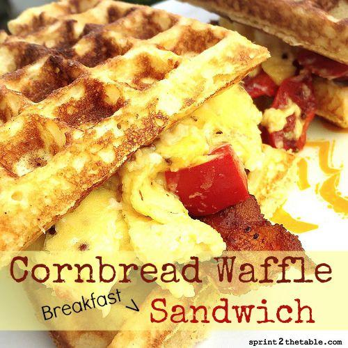 Cornbread Waffle Sandwich