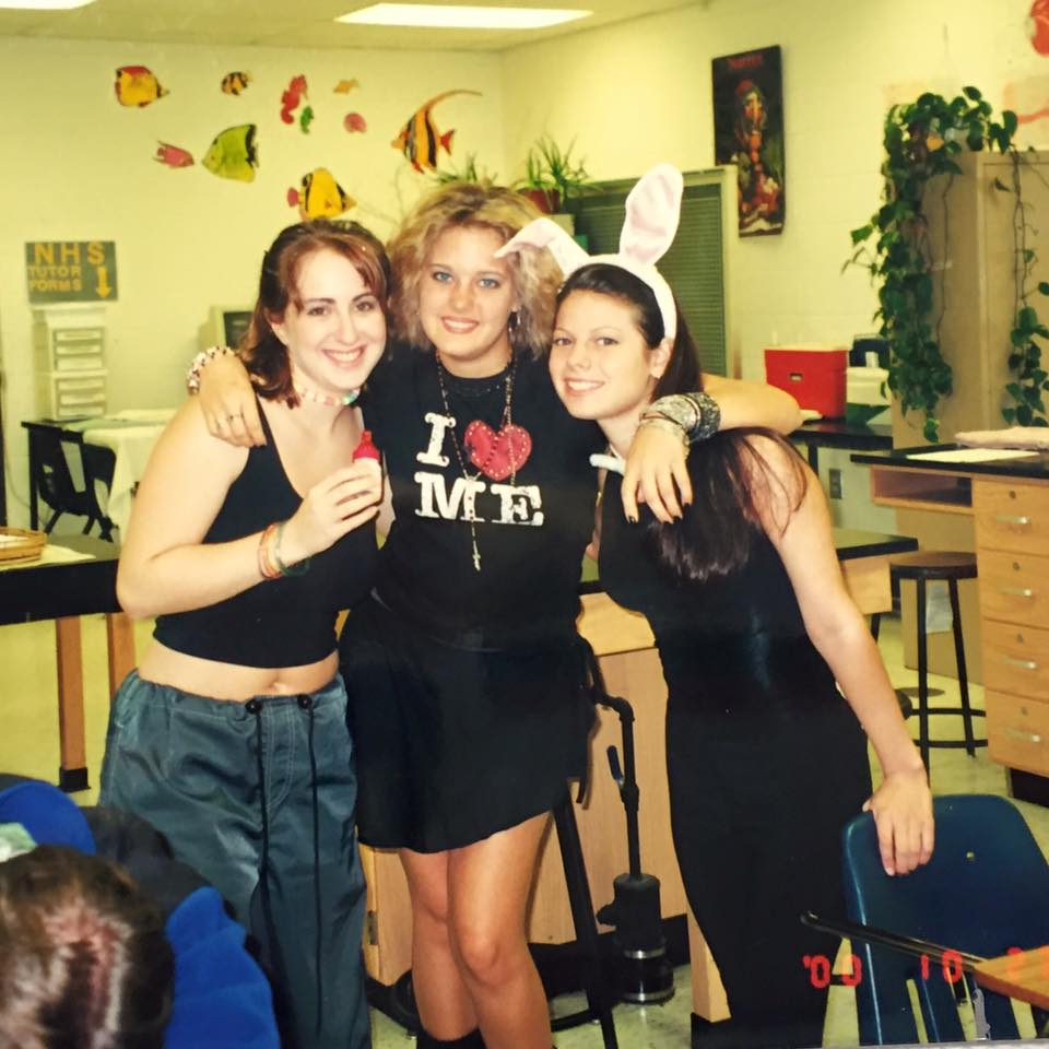High school Halloween. I think I was supposed to me Madonna.