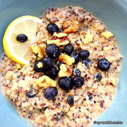Lemon Blueberry Breakfast Quinoa