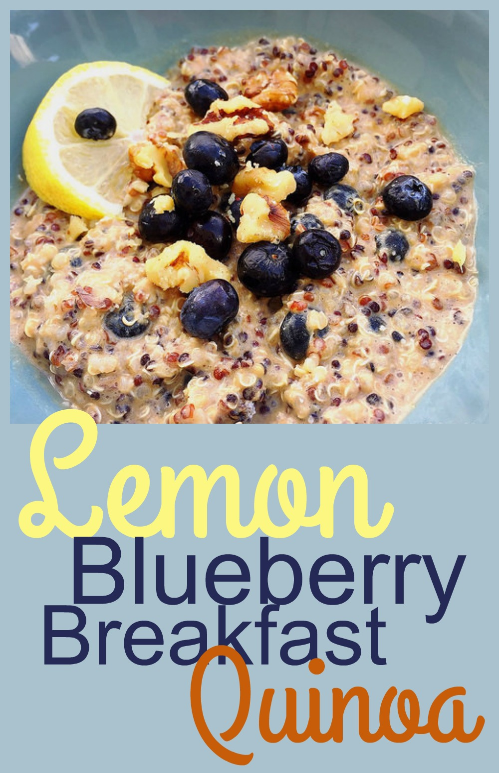 Lemon Blueberry Quinoa - gluten-free make-ahead breakfast!