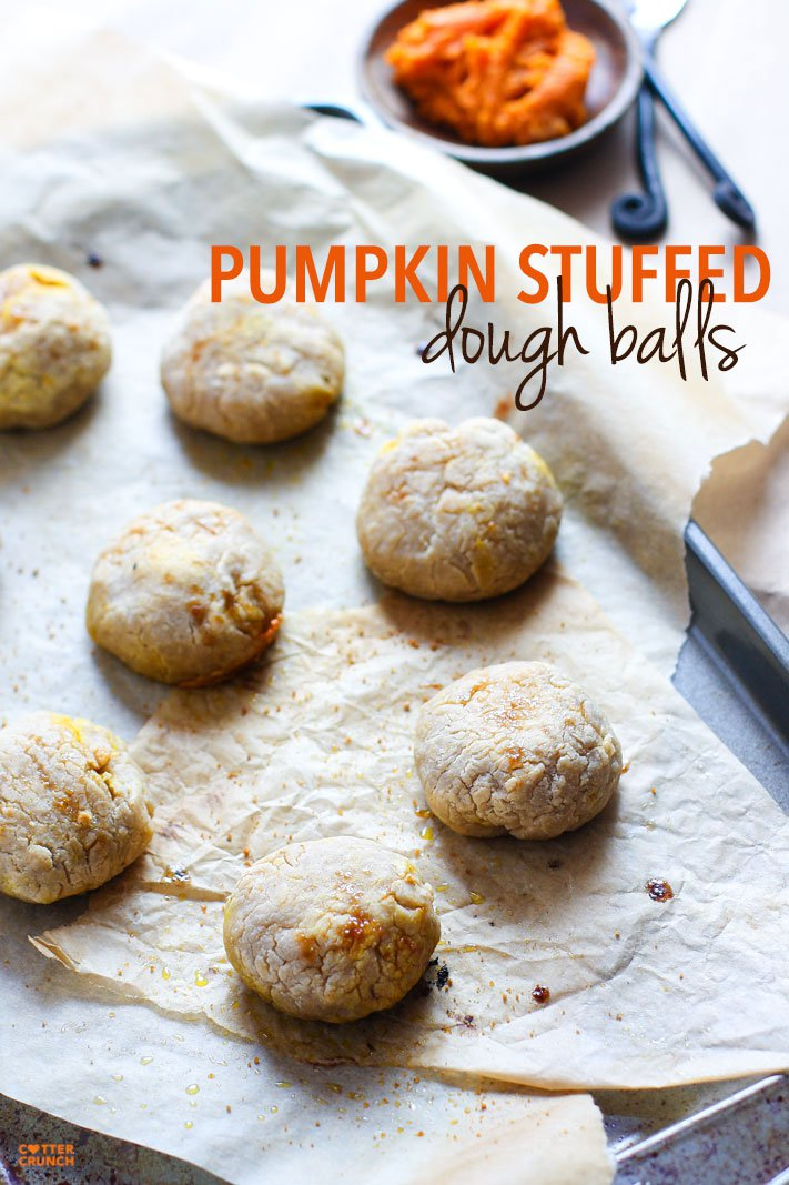 Pumpkin Stuffed Dough Balls