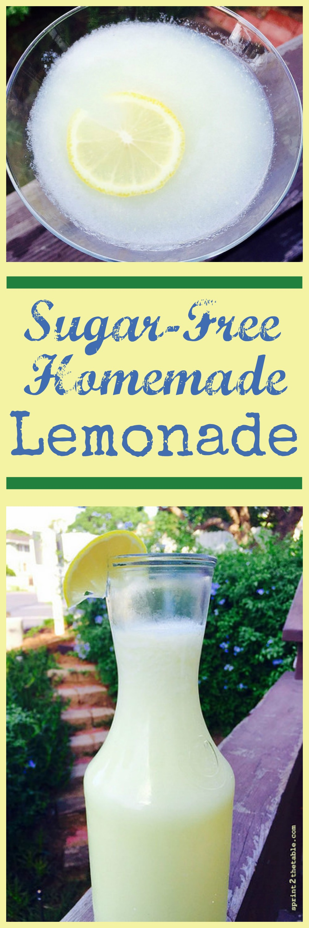 Sugar-Free Homemade Lemonade