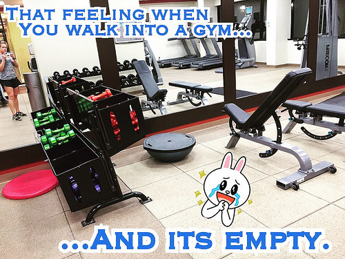 That empty gym feeling