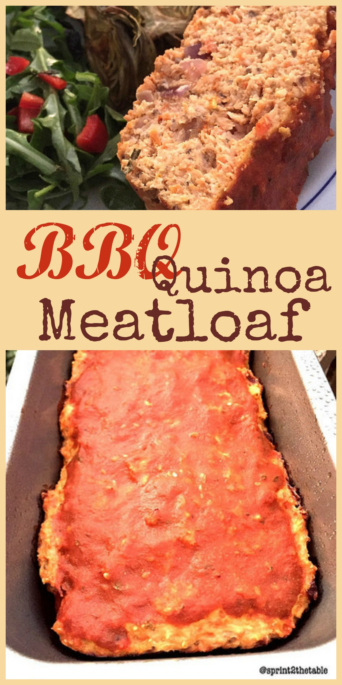 BBQ Quinoa Meatloaf - Gluten-free meatloaf with a BBQ twist. Perfect for football watching!