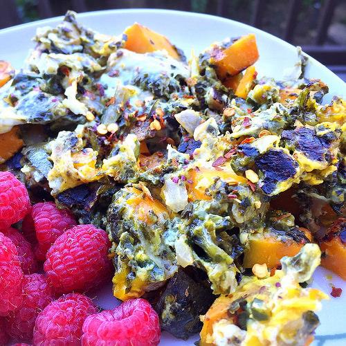 Breakfast tart scramble