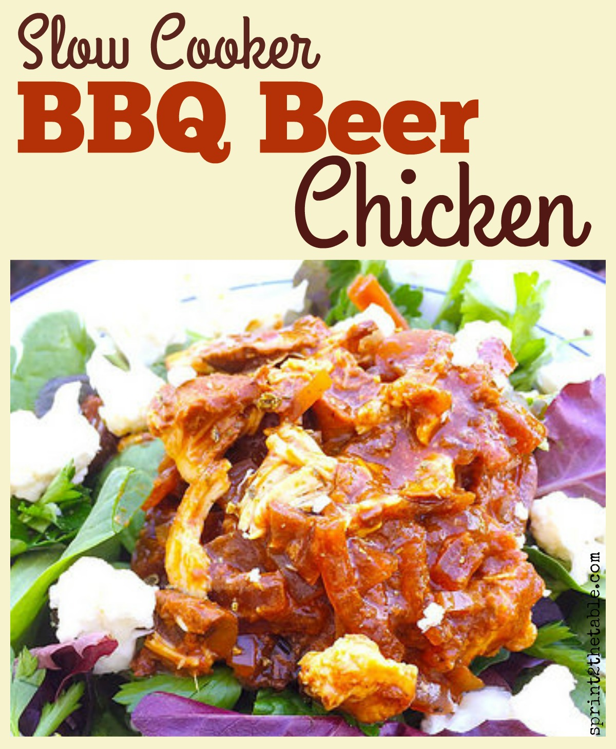 Awesome weeknight easy dinner for four - Slow Cooker BBQ Beer Chicken