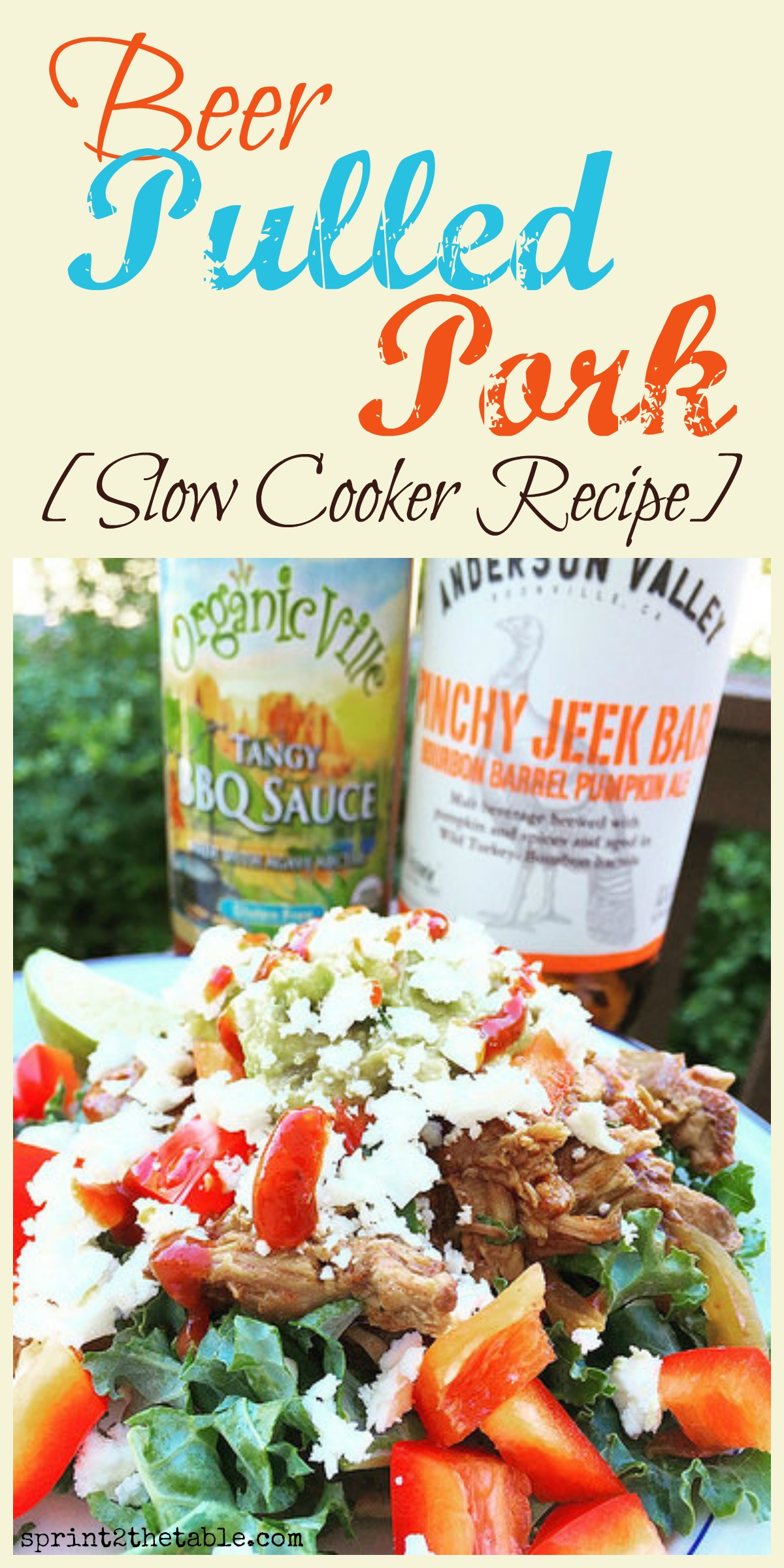 Slow Cooker Beer Pulled Pork - quick and easy recipe you can use in at LEAST 2 different dishes for the week