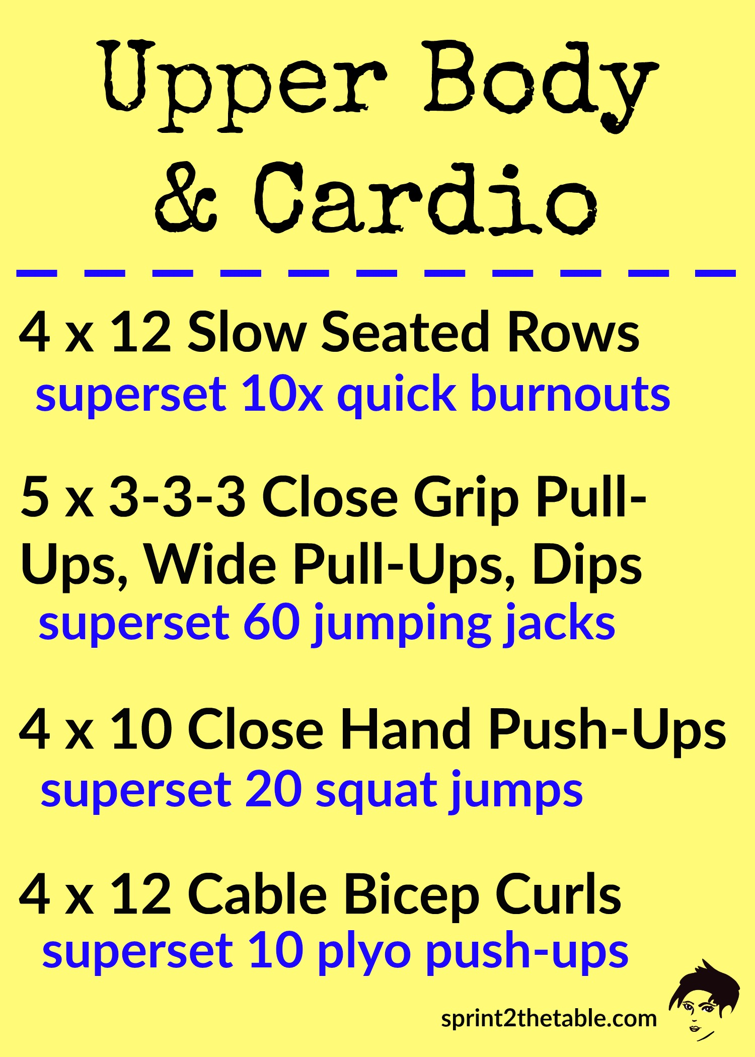 Upper Body and Cardio Workout - get a good workout without spending hours in a gym