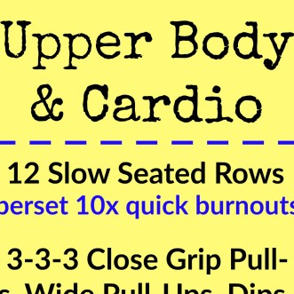 Upper Body and Cardio Workout - square