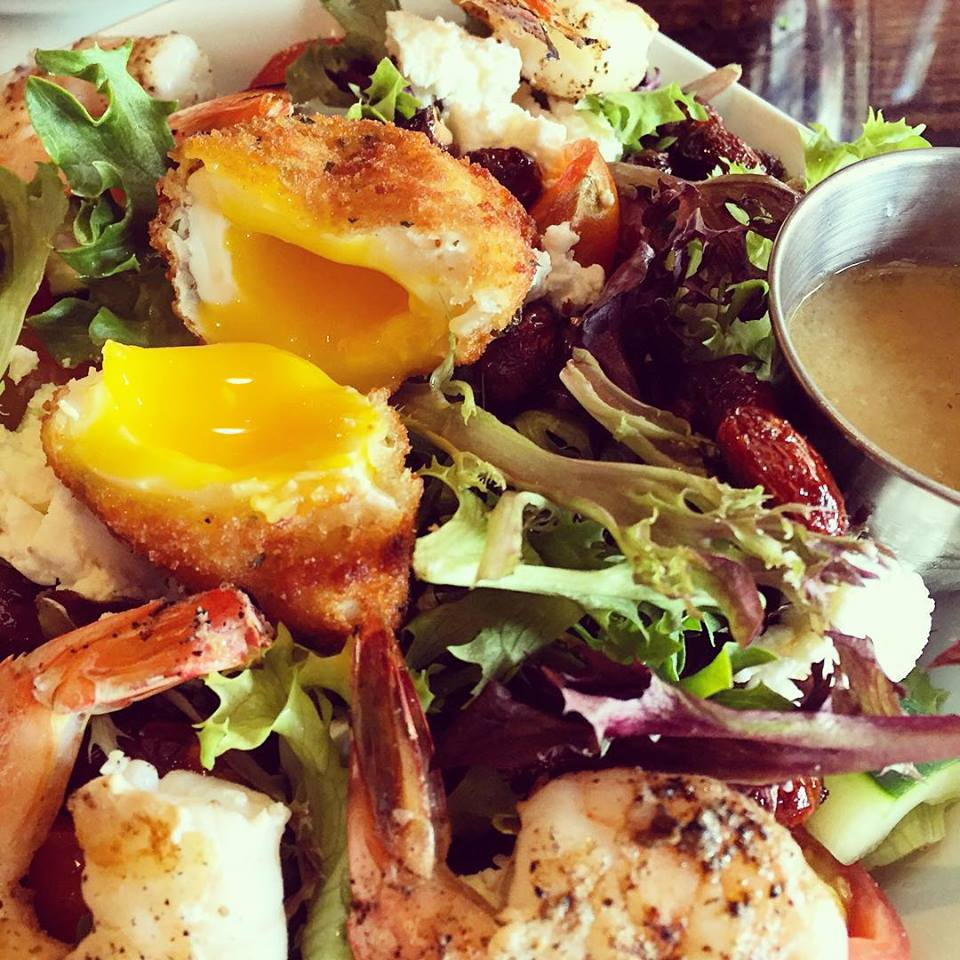 Egg and shrimp salad at Union Kitchen