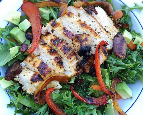 Grilled Mediterranean Chicken Salad [Recipe]