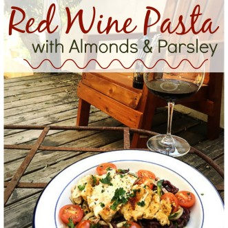 Red Wine Pasta. Because boiling noodles in water is boring.
