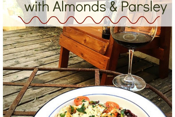Red Wine Pasta with Almonds & Parsley [Recipe]