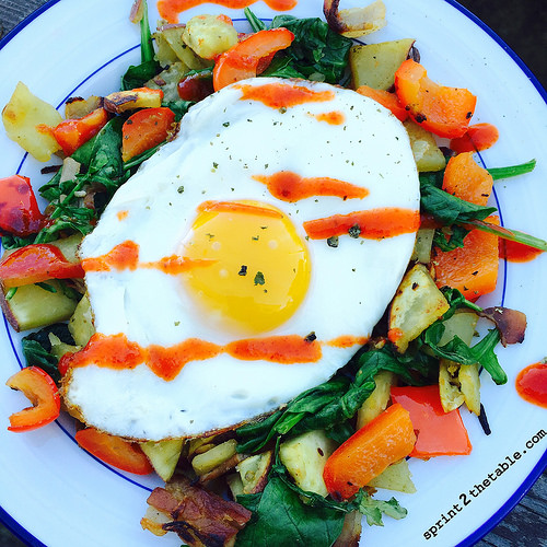 Sweet Potato & Spinach Breakfast Hash recipe