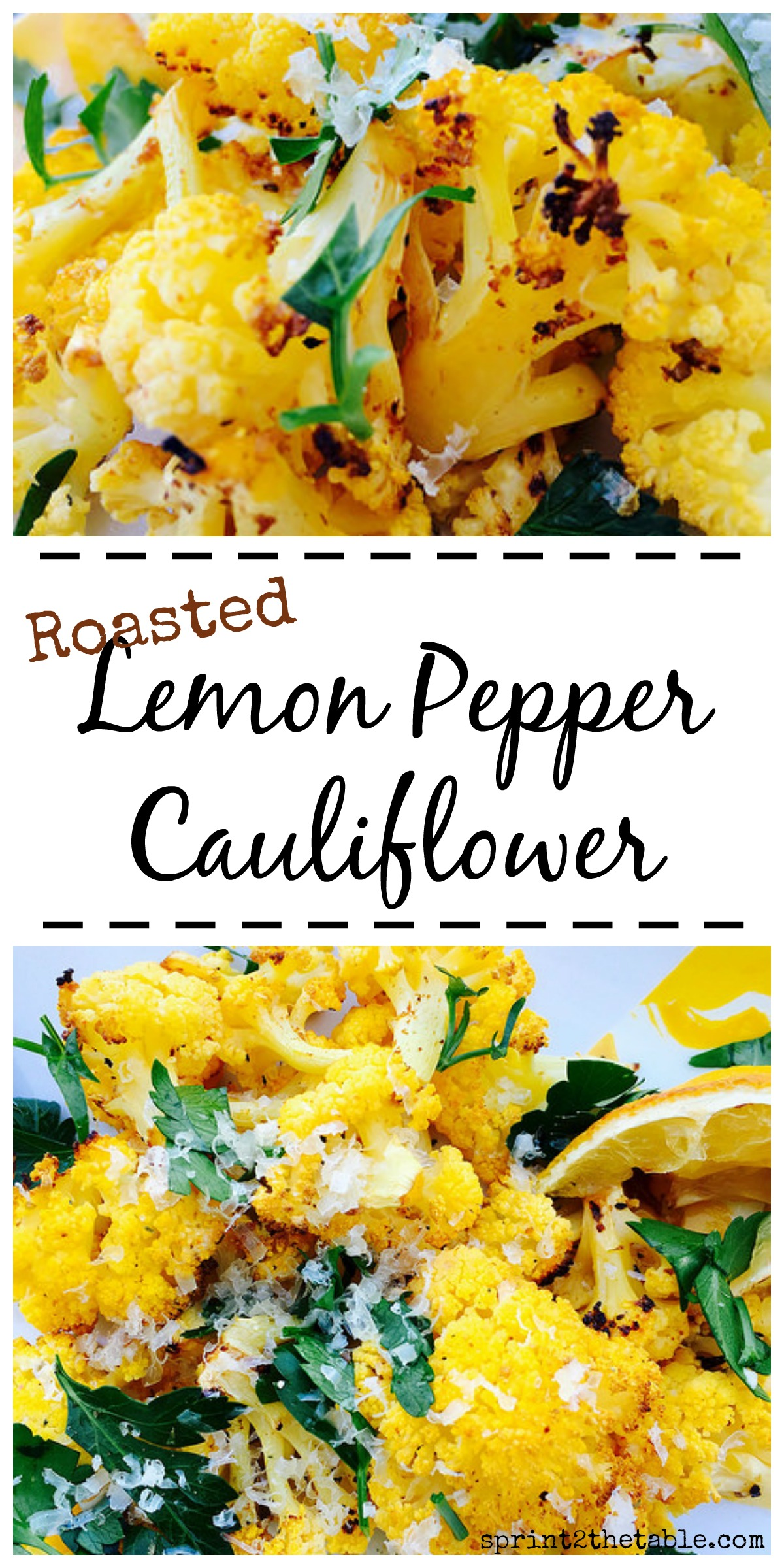 Did you know yellow cauliflower has more beta carotene than the regular white veggie? Try it in this Lemon Pepper Roasted Cauliflower dish!