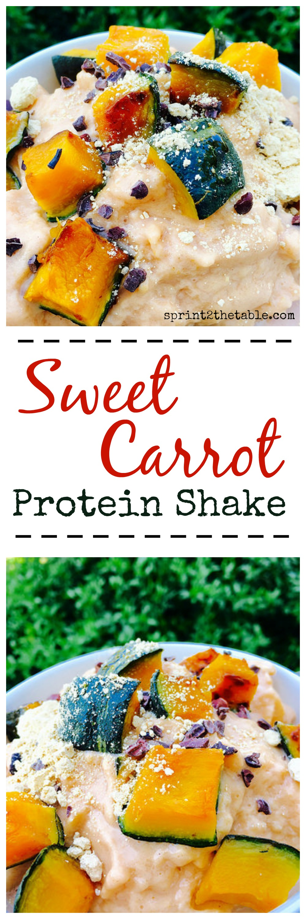 Sweet Carot Protein Shake - deliciously refreshing vegan protein shake after a hot workout!