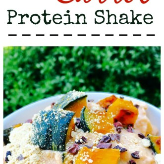 Sweet Carrot Protein Shake - healthy and delicious... the perfect post workout dessert!