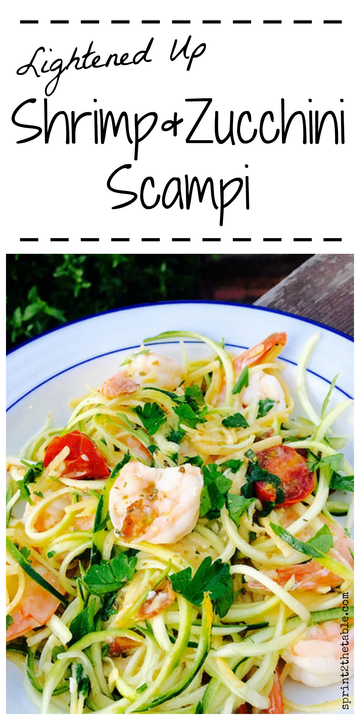 Lightened Up Shrimp & Zucchini Scampi - deliciously easy springtime meal!