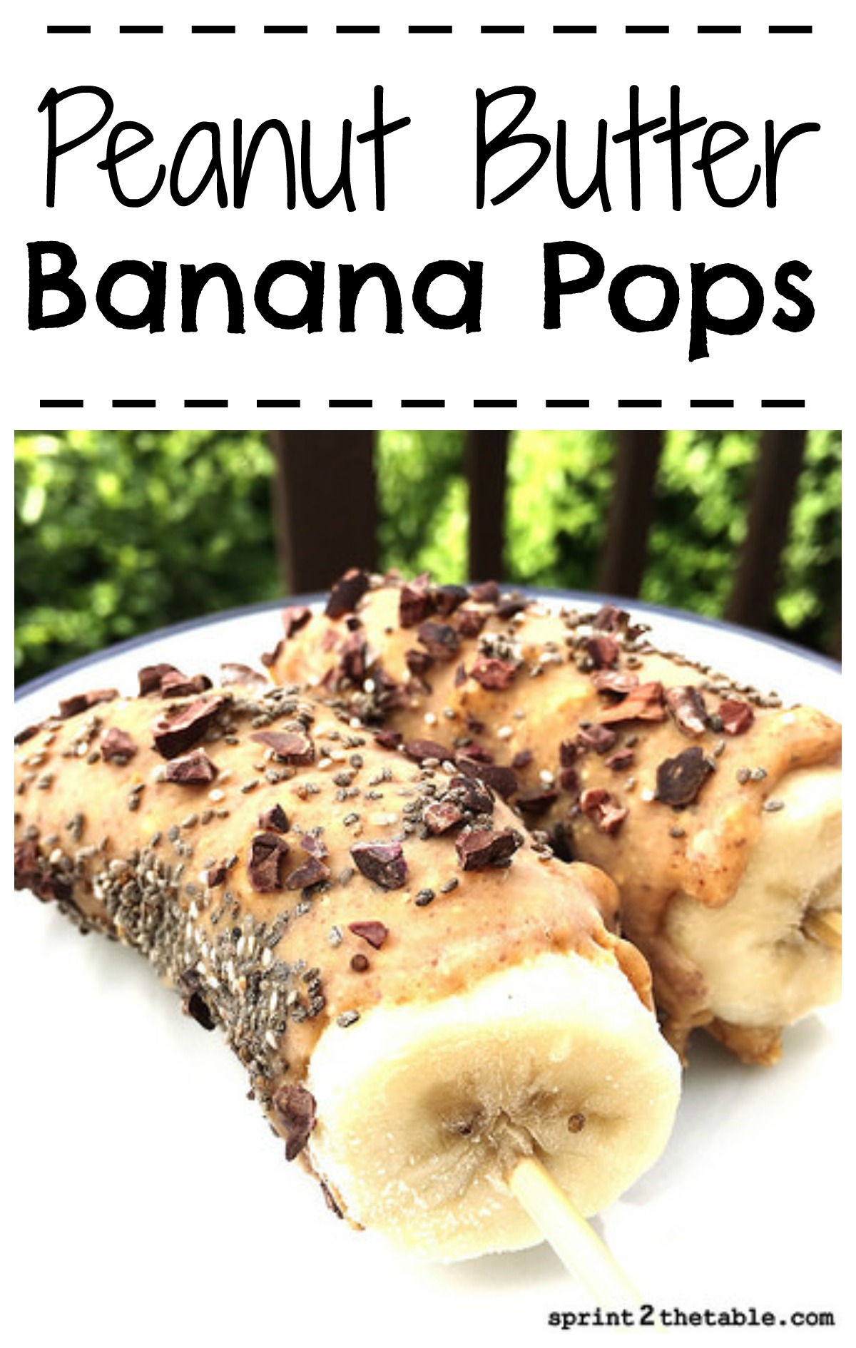 Nut Butter Banana Pops - whether it's a summer afternoon treat or a bachelorette party favor, you really can't go wrong!