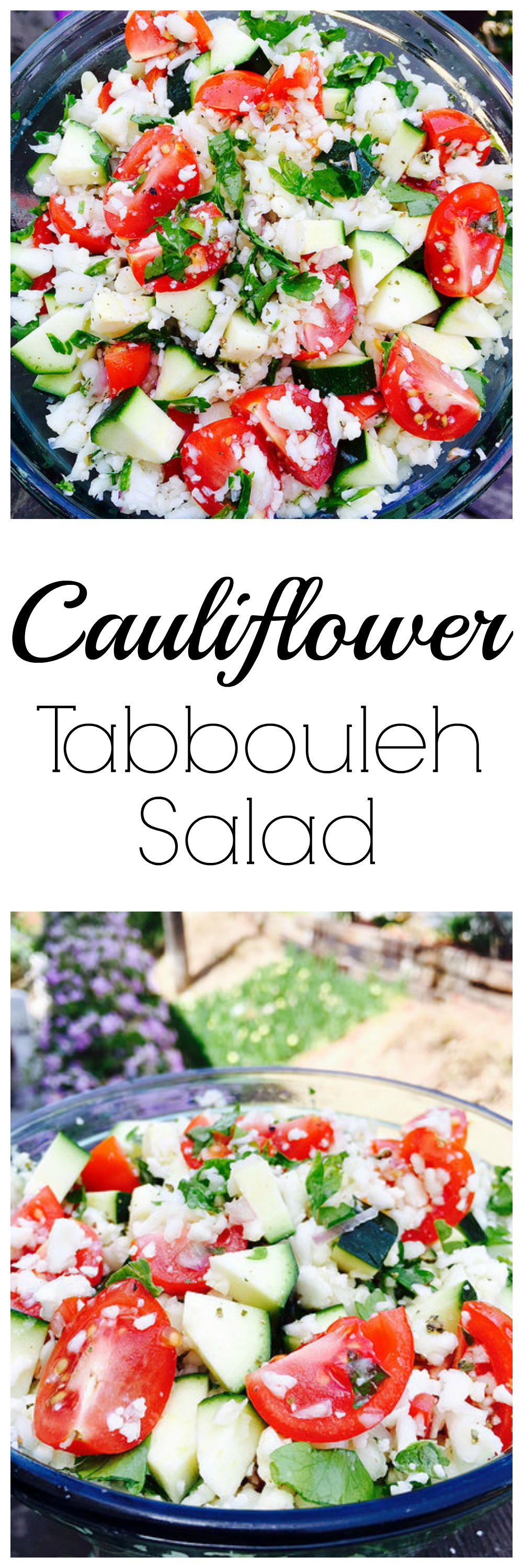 Deliciously EASY grain-free take on Tabbouleh! Paleo, Gluten-Free, Raw, and Vegan.