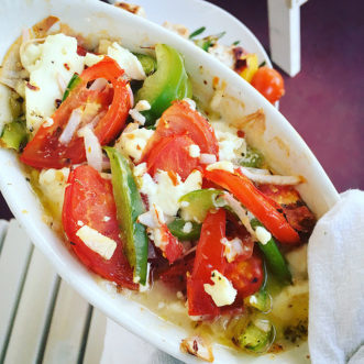 Greek Feta Psiti is easy to prepare and is a perfect app!