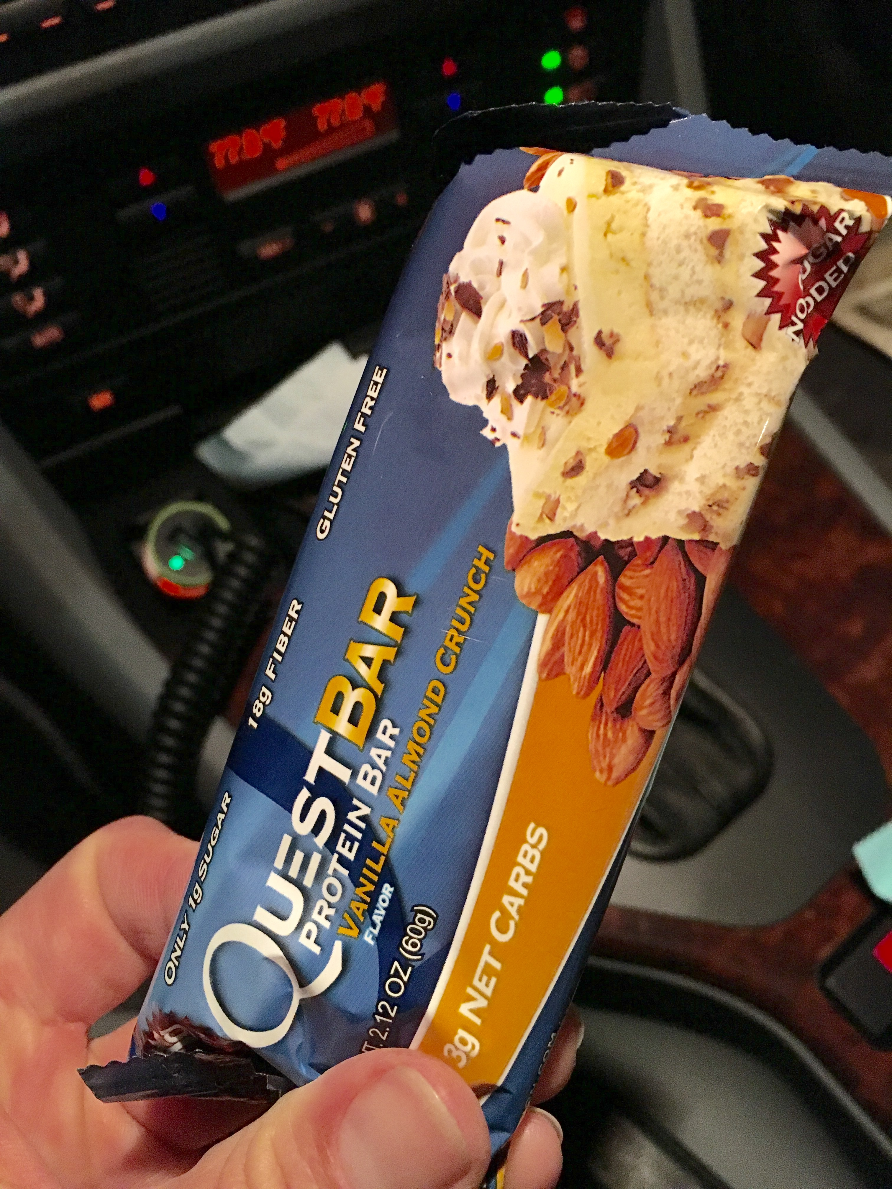 Quest bar - easy snack on the go!