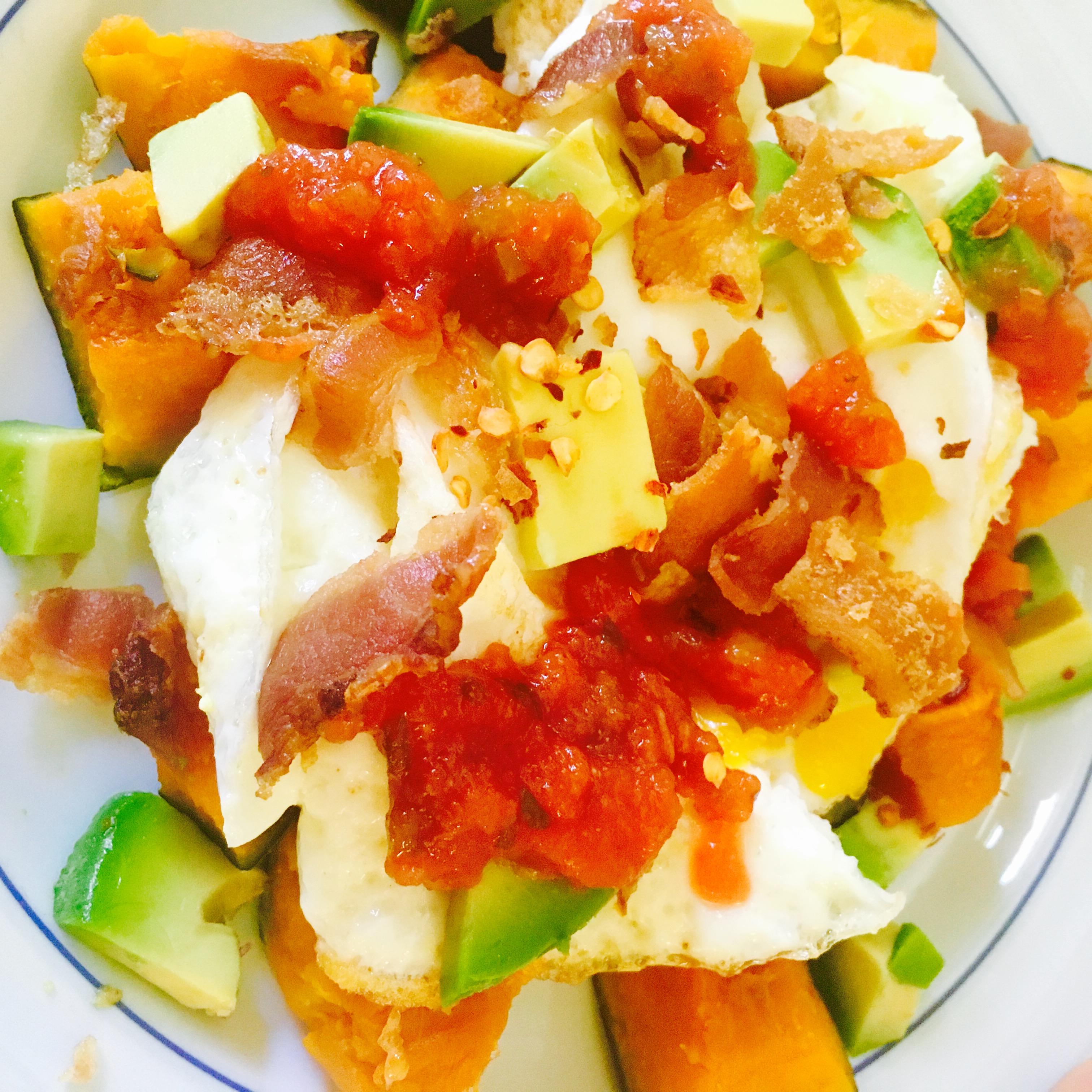 Breakfast Kabocha and Eggs