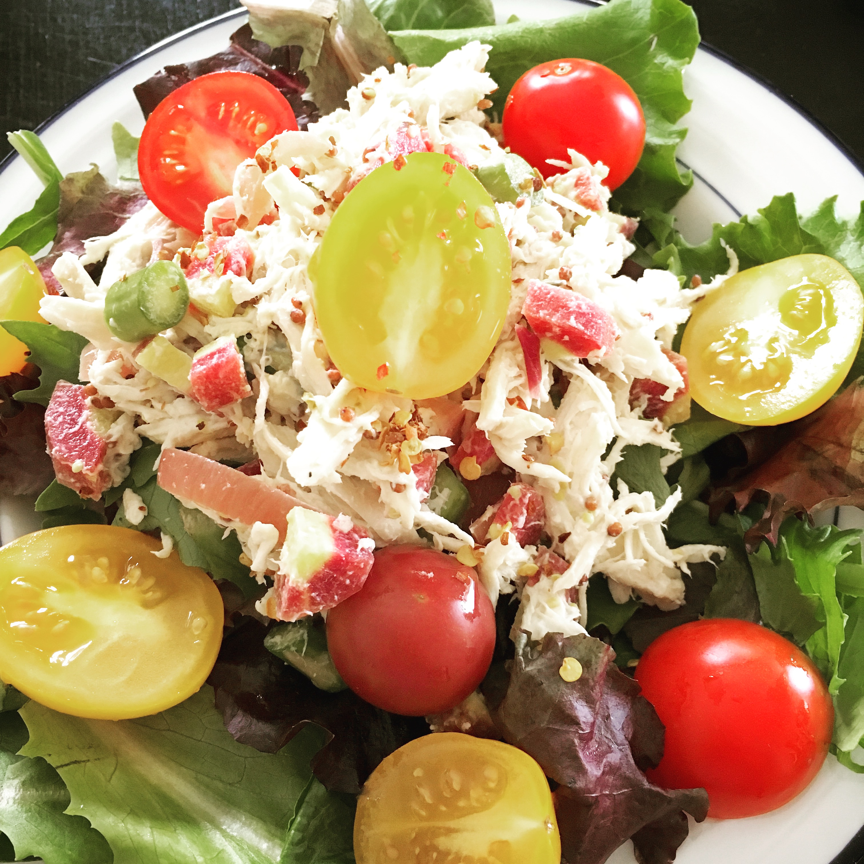 Quickie healthy chicken salad for lunch