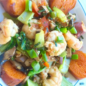 Shrimp Teriyaki Stir Fry featured
