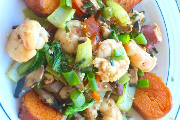 Shrimp Teriyaki Stir Fry {Recipe}