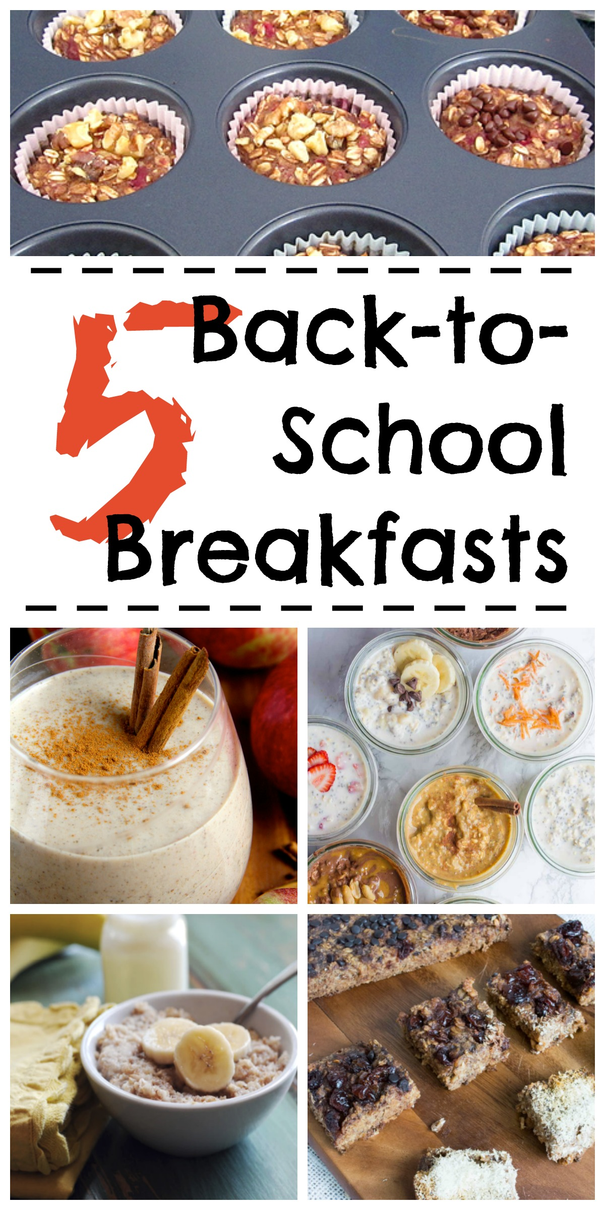 5 healthy make ahead breakfast ideas for the school year
