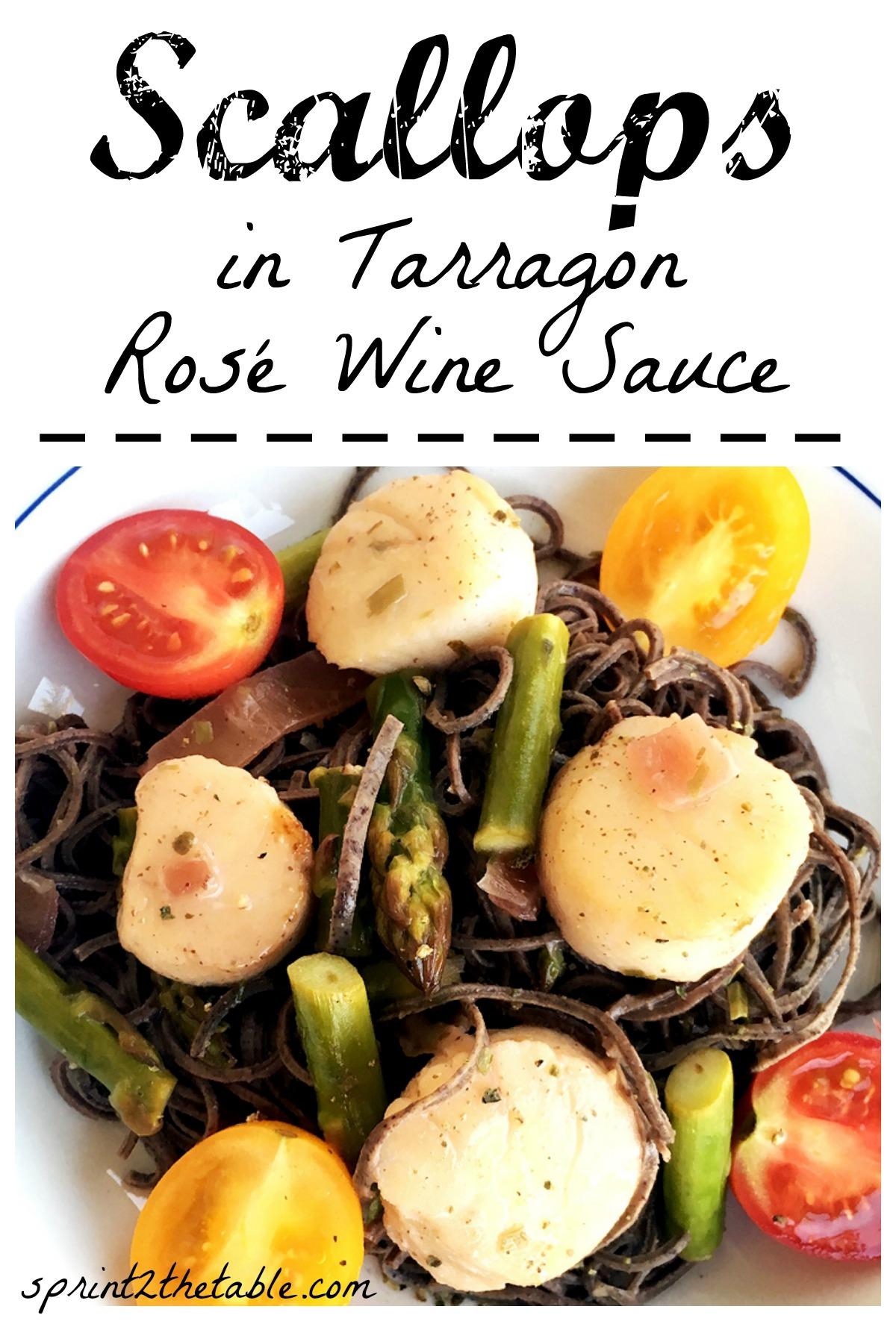 Leftover wine? This easy Sea Scallop in Tarragon Rosé Wine Sauce recipe!