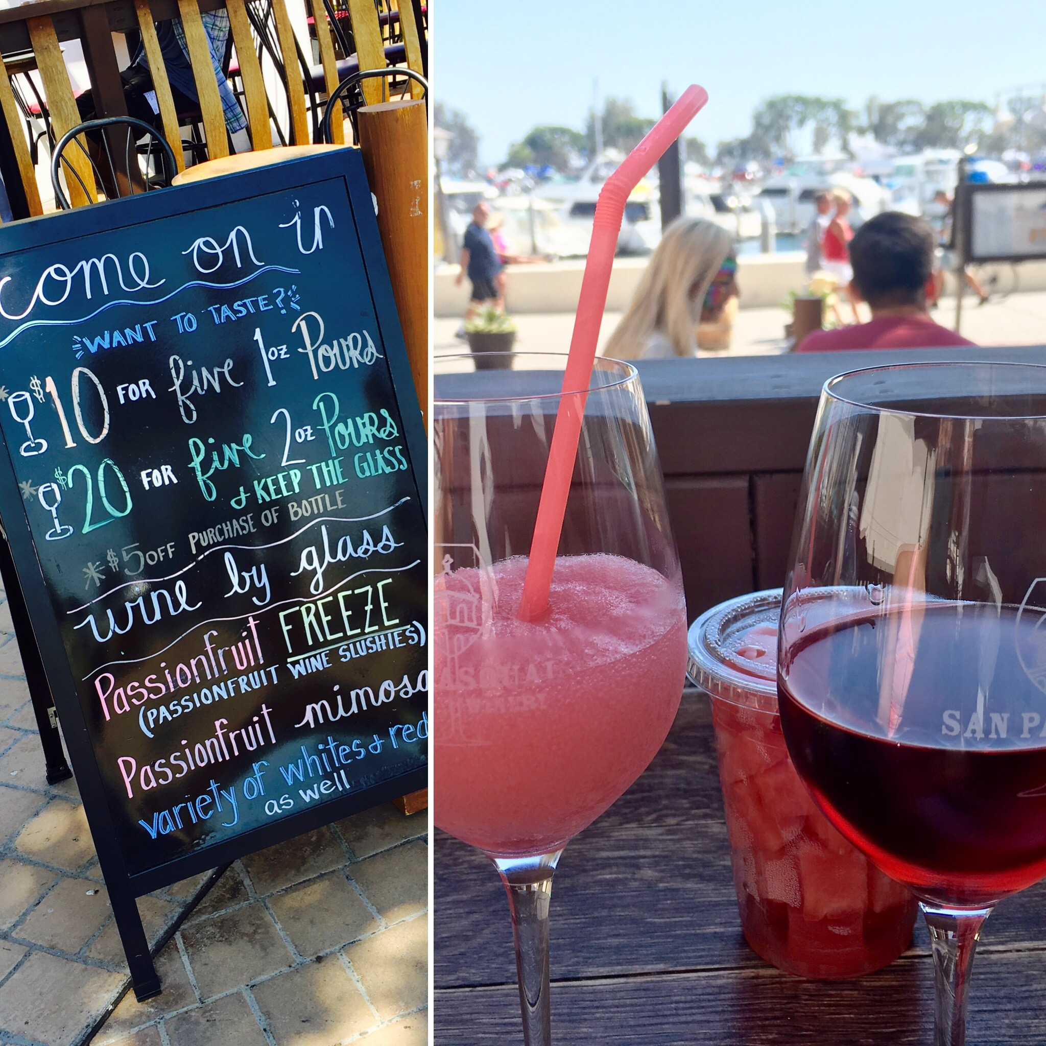 San Pasqual Wine Tasting Room wine slushie