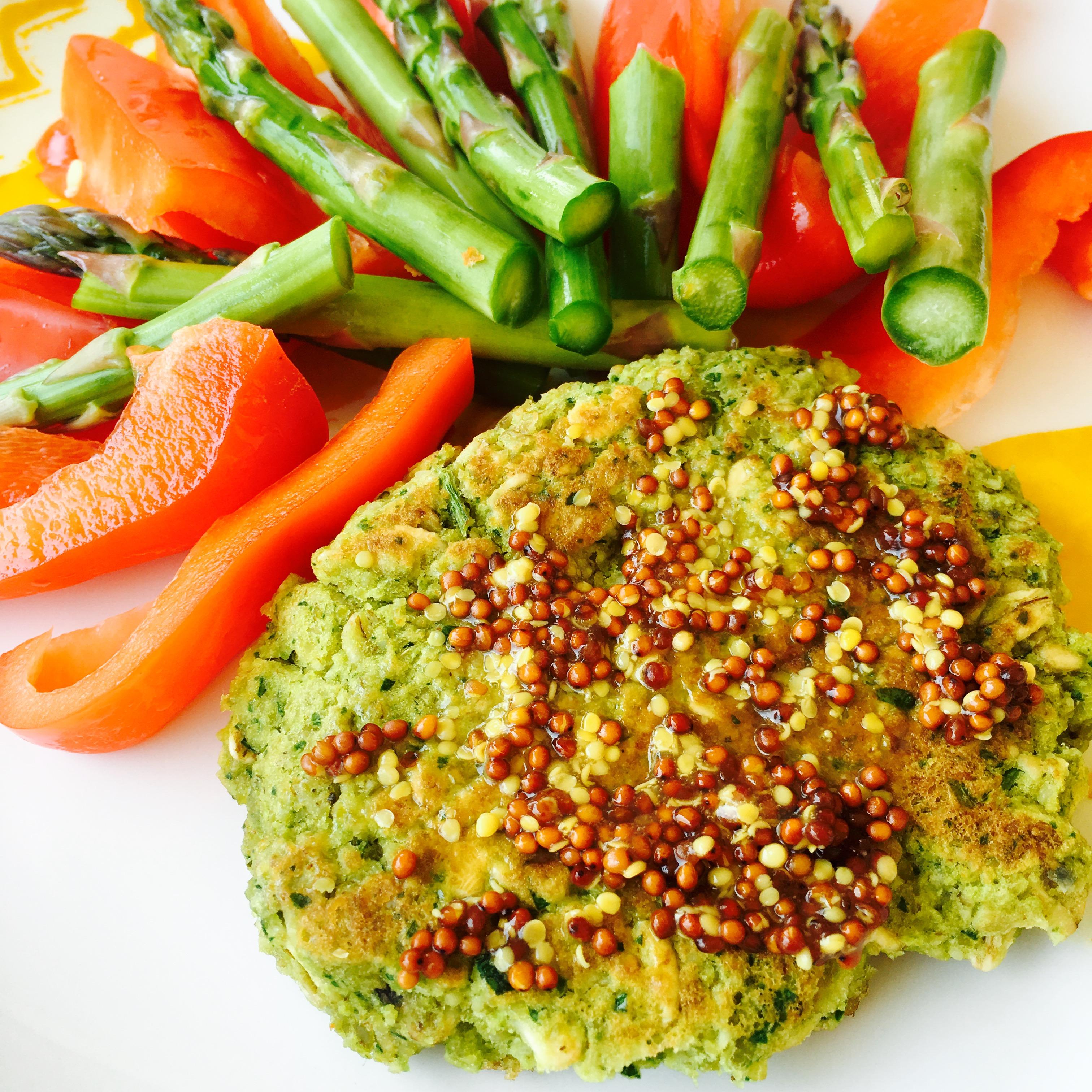 Spinach Lentil Veggie Burger