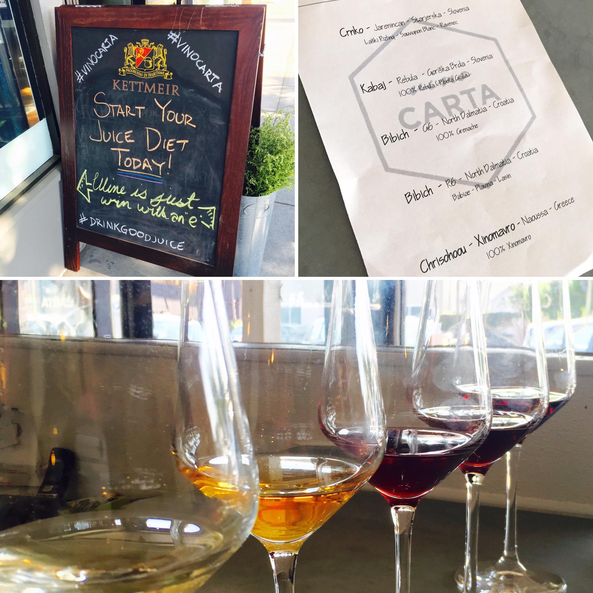 VIno Carta wine tasting in San Diego's Little Italy