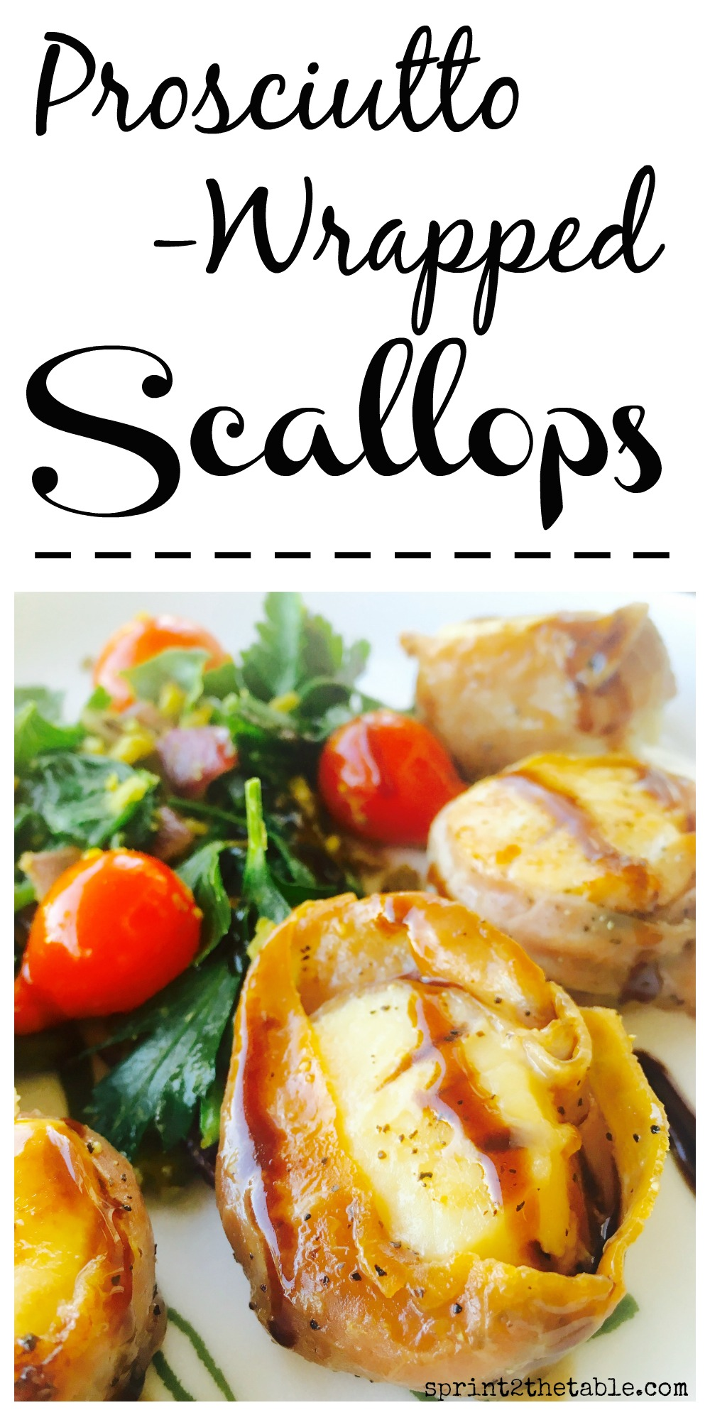 Easy Prosciutto-Wrapped Scallops with Balsamic - these fancy-looking scallops are actually quite easy and come together in minutes