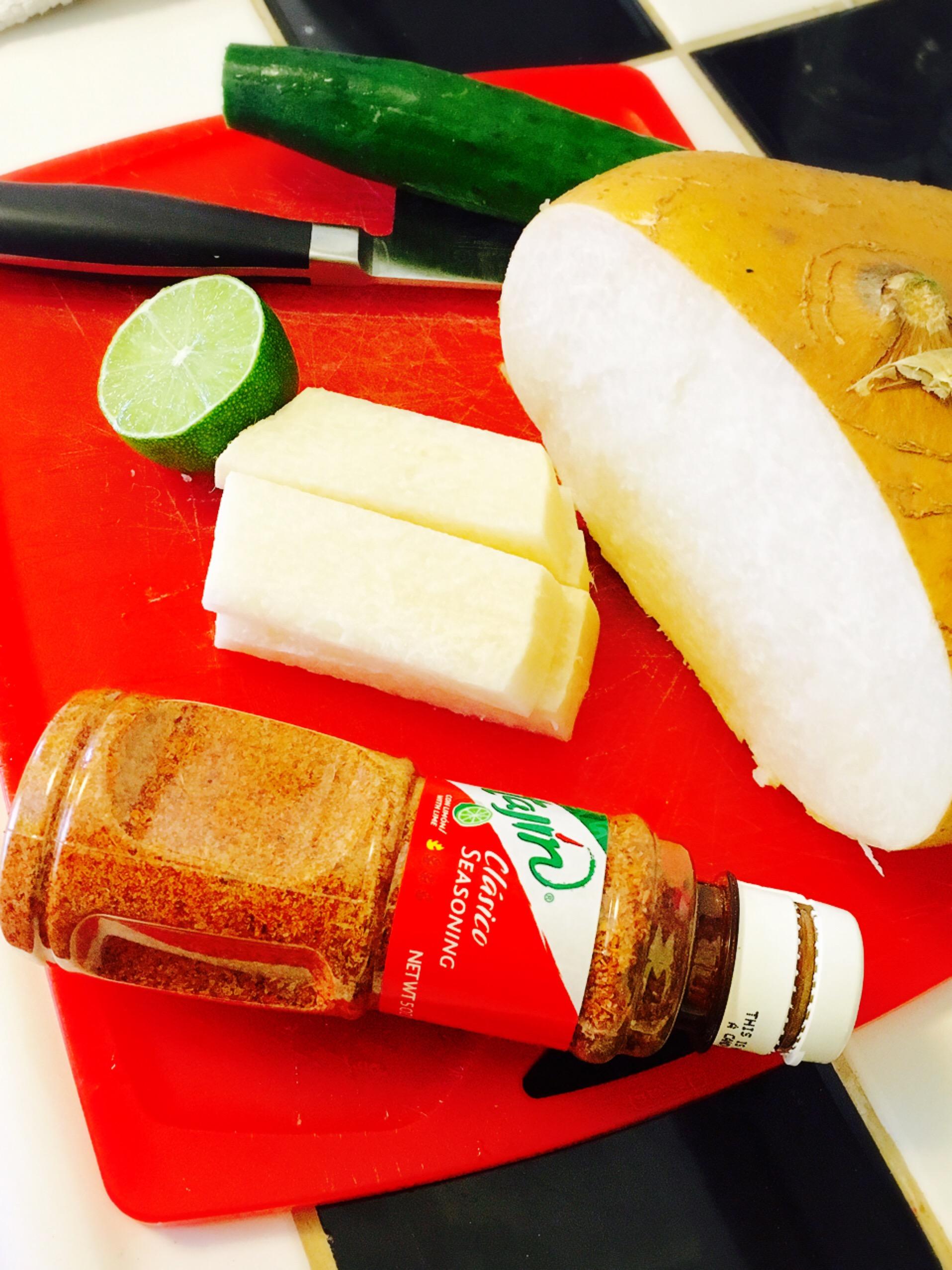 Jicama Tajin Salad ingredients