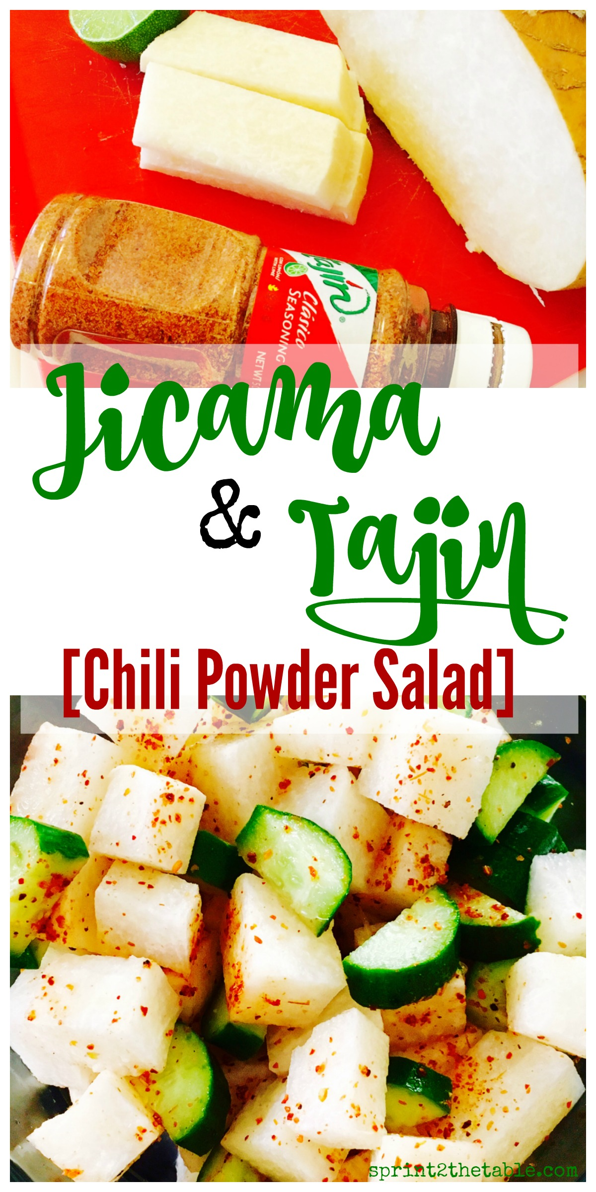 This light and healthy Jicama Tajin Salad is a quick & easy side or snack!