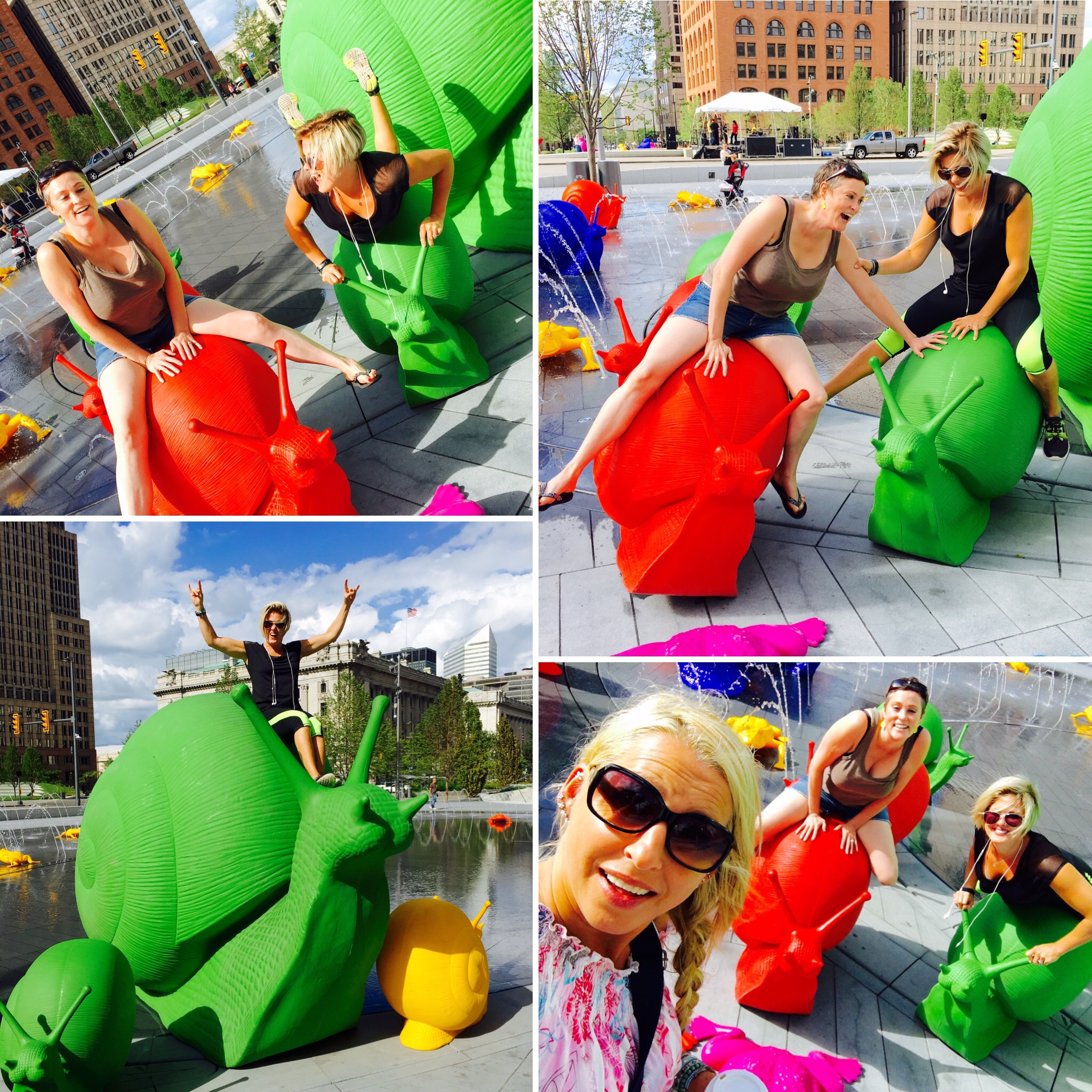 Neon Snail photo shoot in Cleveland