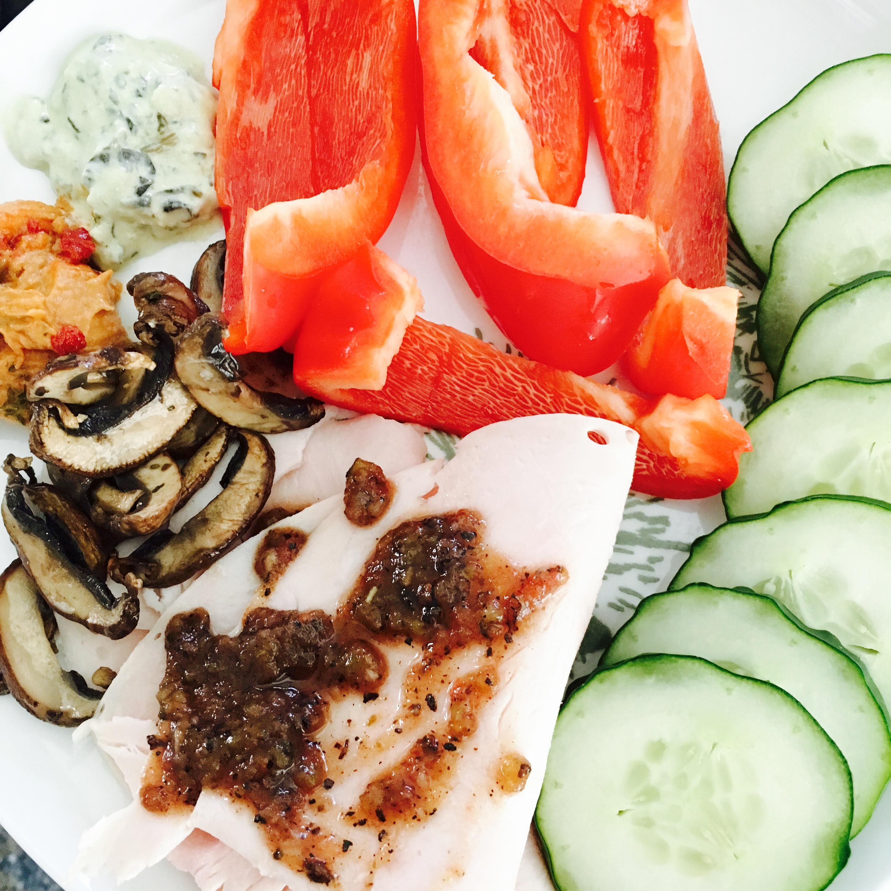 turkey-and-veggie-plate