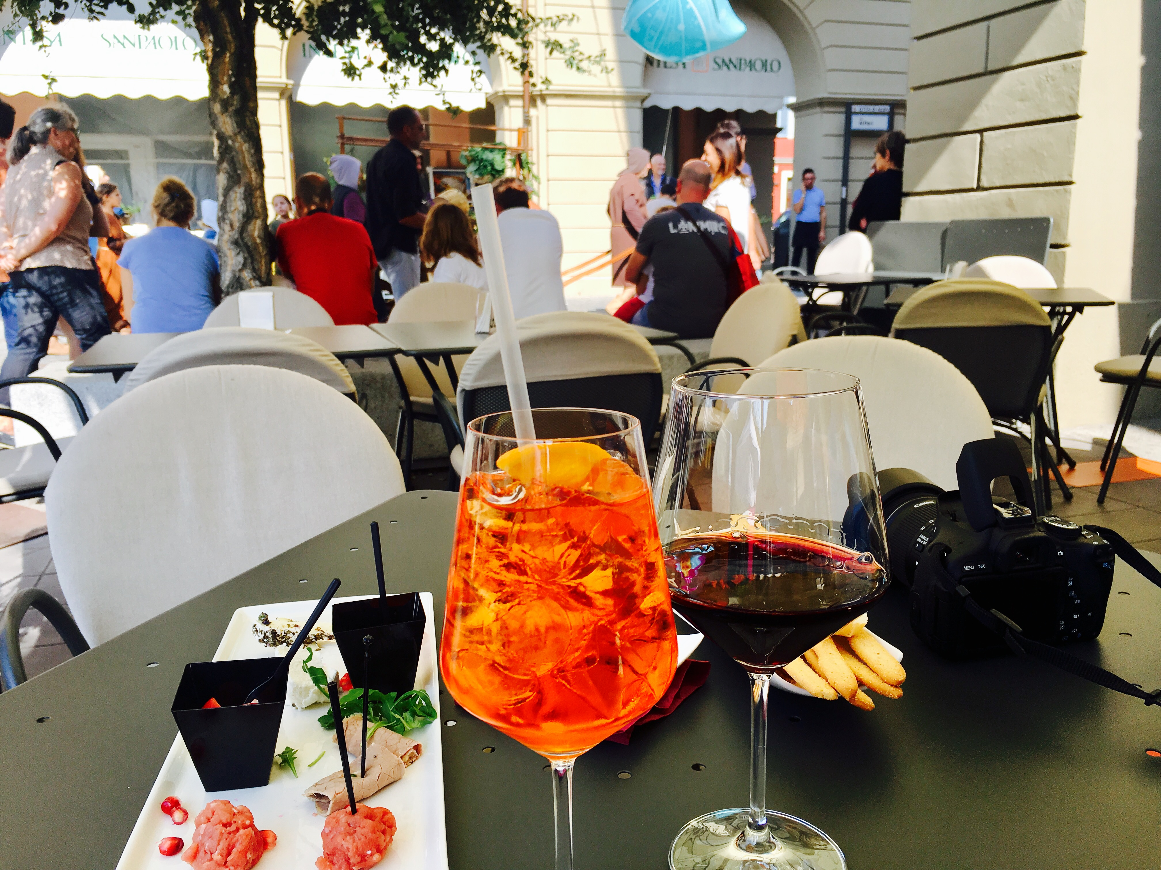 Apertivo at my favorite wine stop in Alba - Enoteca Roberto Sarotto