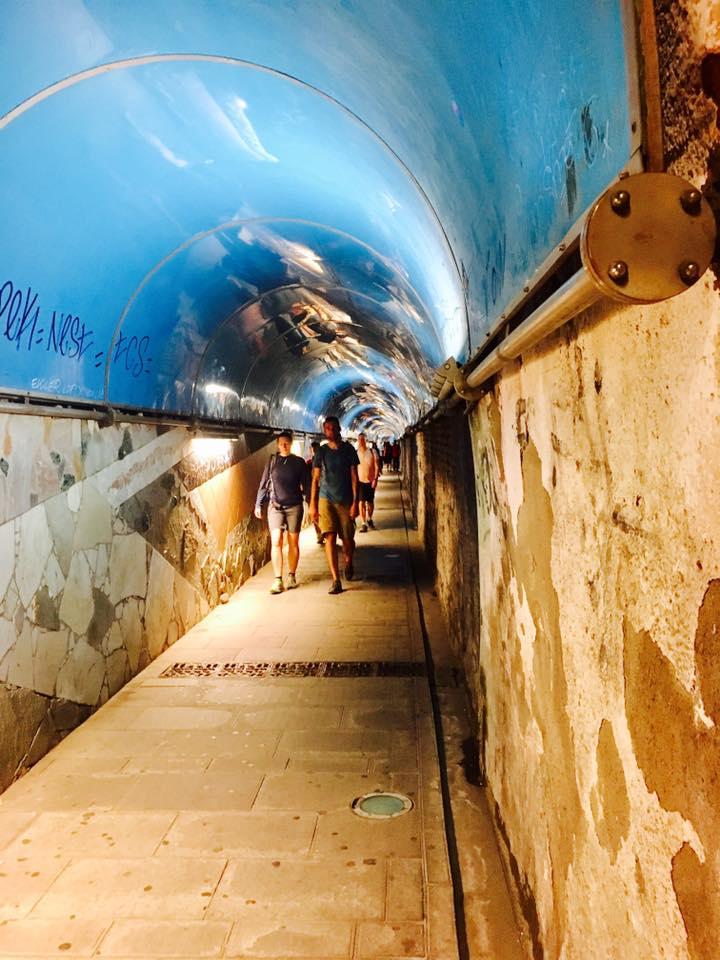 Tunnel to the train in Riomaggiore