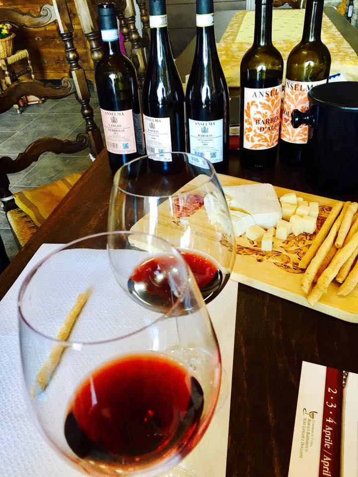 Wine tasting at Anselma Giacomo in Serralunga Italy