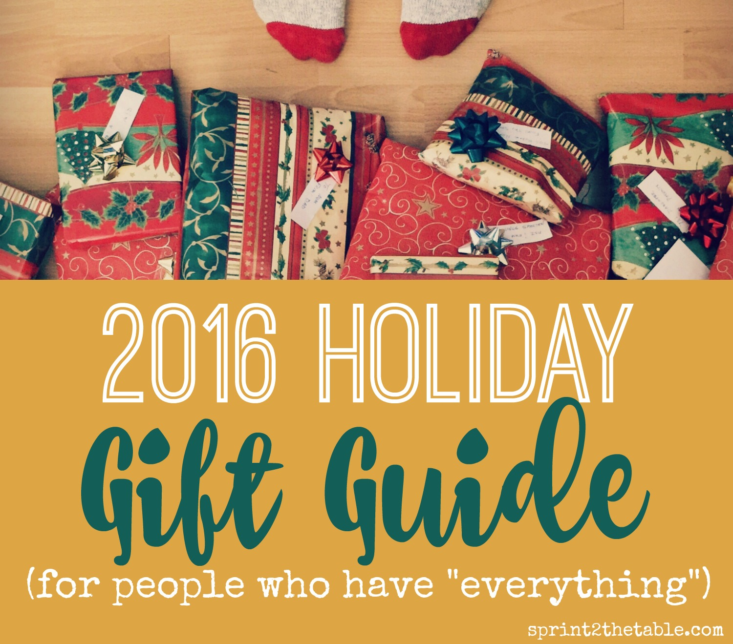 2016 Holiday Gift Guide For People Who Have Everything