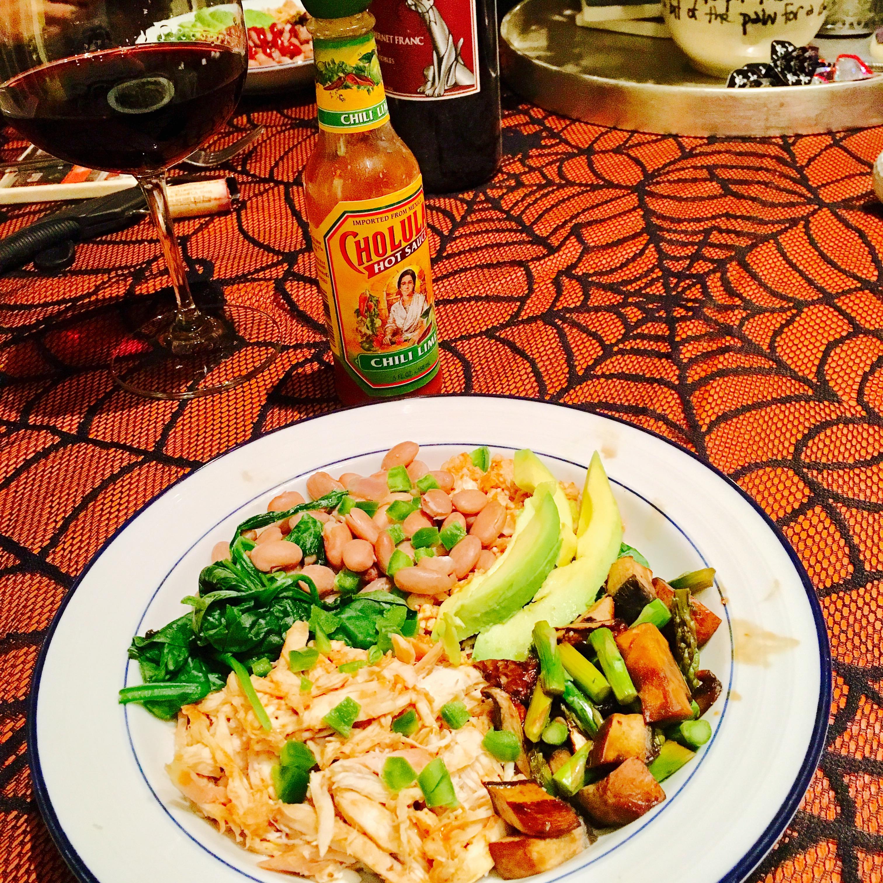 BBQ Cauliflower Rice Bowl with Cholula