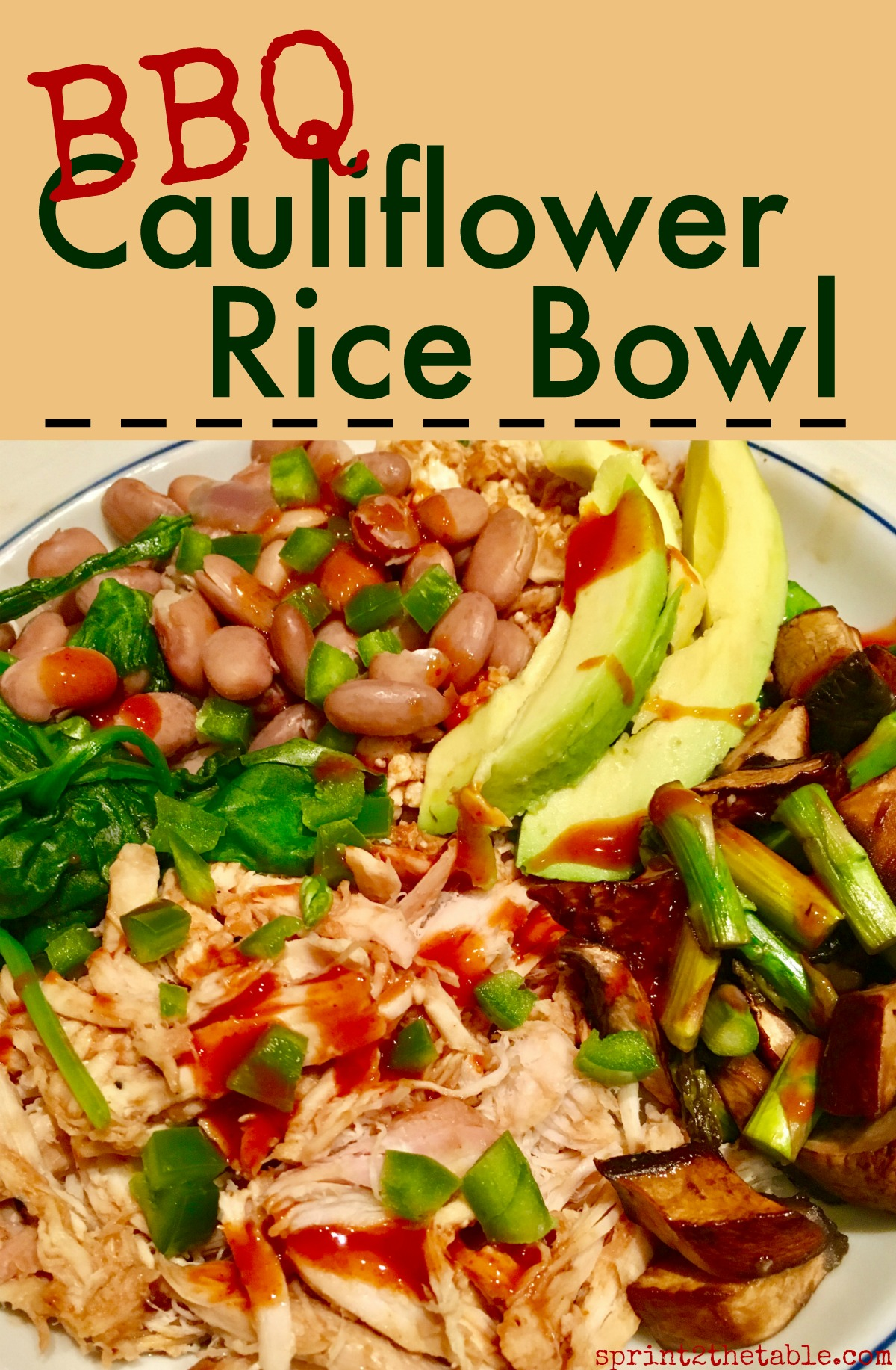 "BBQ Cauliflower ""Rice"" Bowls are a great healthy dinner option. This gluten-free recipe comes together quickly and is full of flavor!"